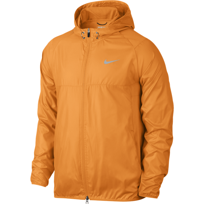 Nike Golf Range Packable Hooded Jacket - Vivid Orange/Wolf Grey/Silver