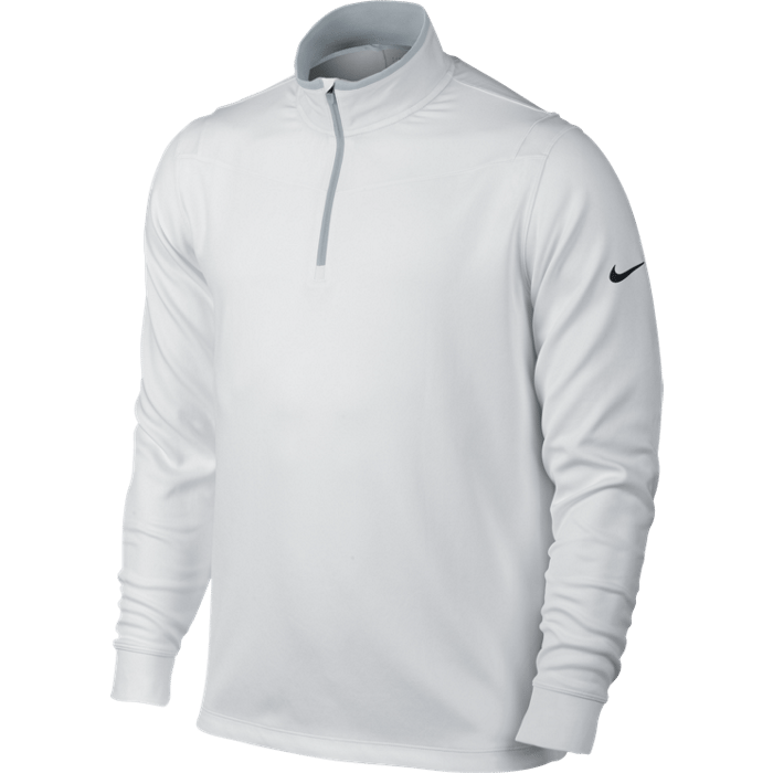 Nike Dri-Fit 1/2 Zip Longsleeve Top - White/Wolf Grey/Black