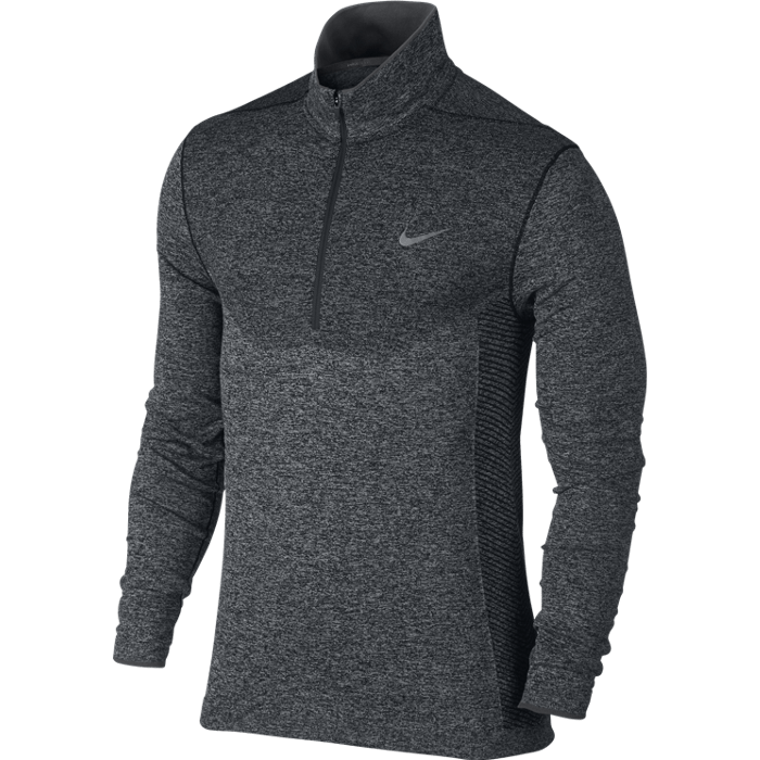 Nike Golf Dri-Fit Knit 1/2 Zip Sweater - Black/Anthracite/Reflective Silver