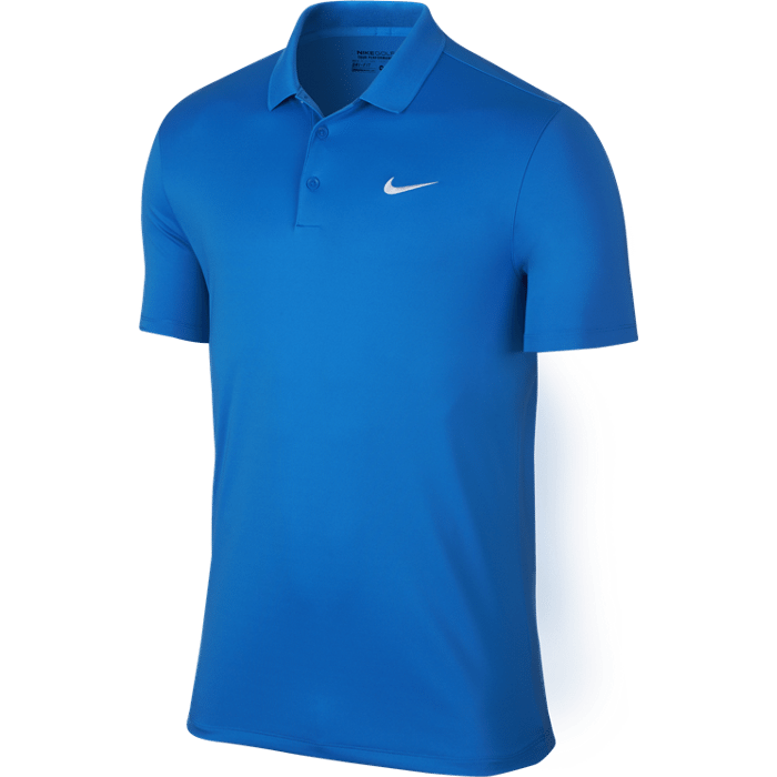 Nike Victory Solid LC Polo - Photo Blue/White