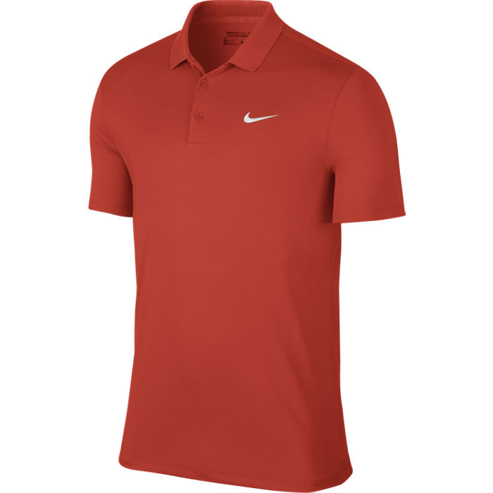 Nike Victory Solid LC Polo - LT Crimson/White