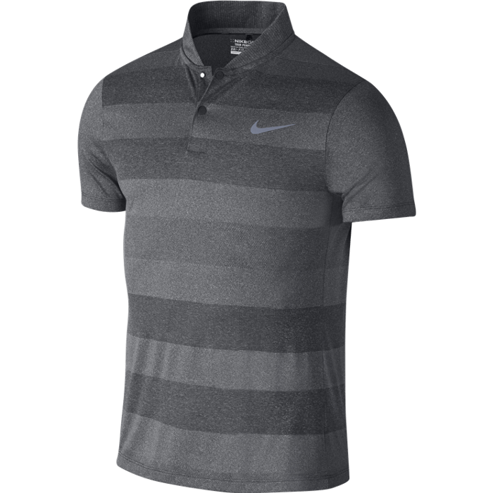Nike Golf Momentum Fly Blade Stripe Polo Shirt - Dark Grey/Reflective Silver