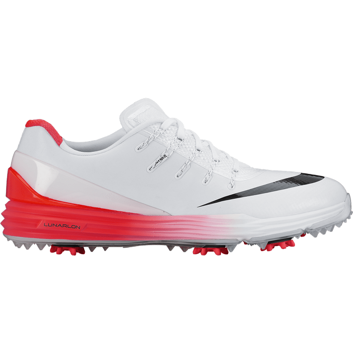 Nike Golf Lunar Control 4 Golf Shoes - White/Black/Crimson