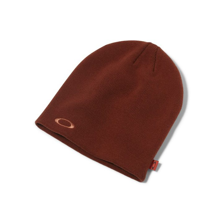 Oakley Fine Knit Beanie - Burnt Henna