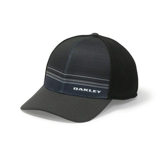 Oakley Silicon Bark Trucker 4.0 Print Golf Hat - Jet Black