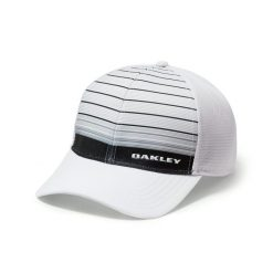 Oakley Silicon Bark Trucker 4.0 Print Golf Hat - Grey/White