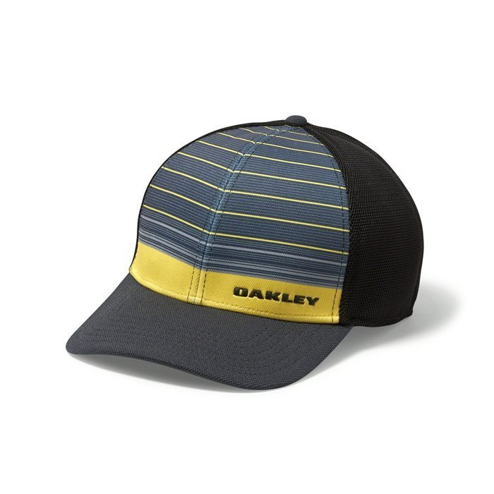 Oakley Silicon Bark Trucker 4.0 Print Golf Hat - Blazing Yellow