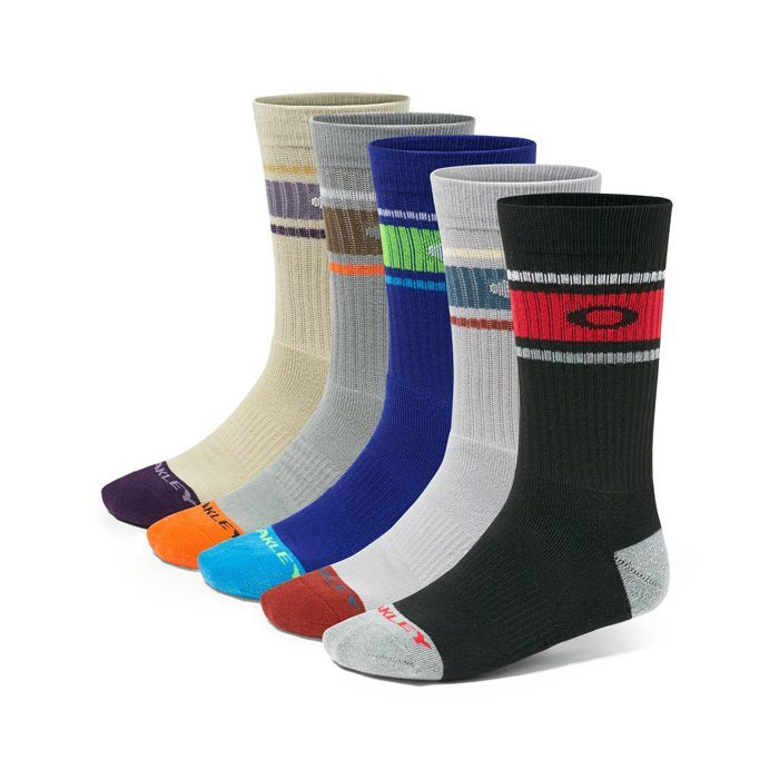 Oakley Performance Basic Crew Sock 5 Pack 2016 - Mixed