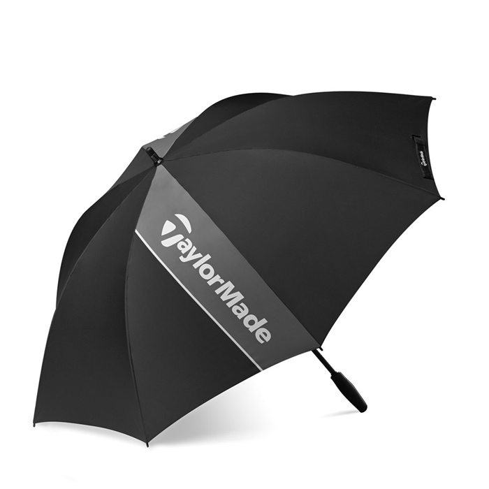 TaylorMade Golf Single Canopy 60inch Umbrella - Black/Grey/White