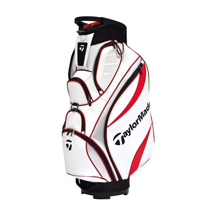 Taylormade Monaco Cart Bag - White/Red/Silver