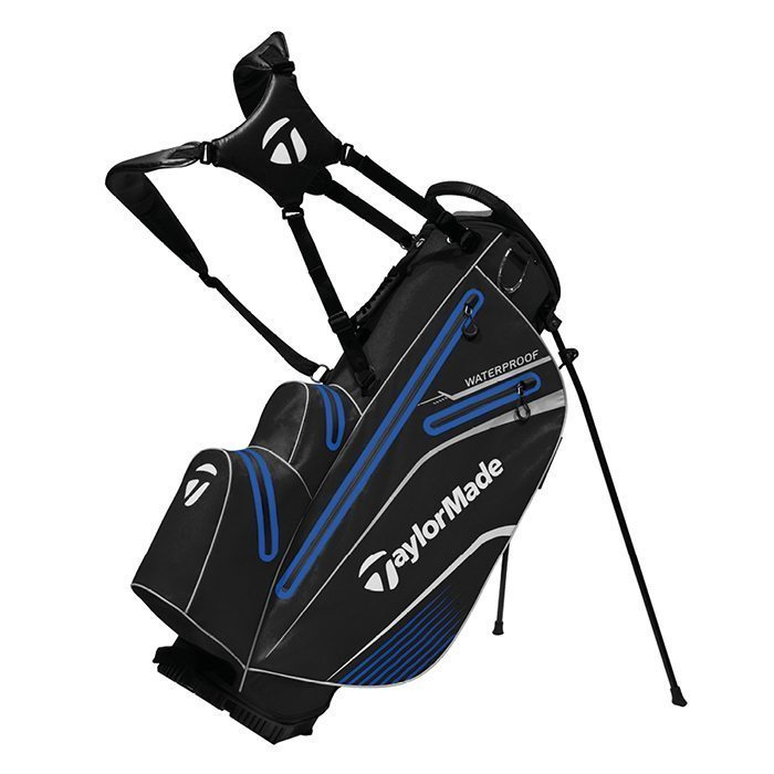 TaylorMade Waterproof Stand Bag - Black/Blue