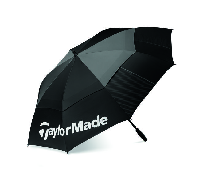 TaylorMade Tour Preferred Double Canopy Umbrella - Black/Grey