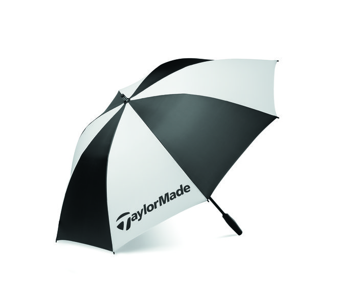 Taylormade Golf Single Canopy 62inch Umbrella - Black/White