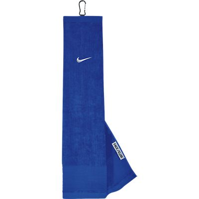 Nike Face/Club Tri-Fold Golf Towel - Game Royal/White