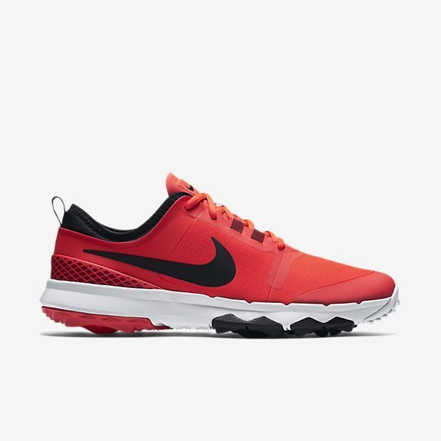 Nike Mens FI Impact 2 Golf Shoes - Bright Crimson/White/Team Red/Black