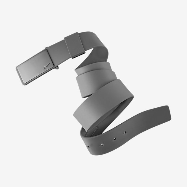 Nike Sleek Plaque Golf Belt - Grey