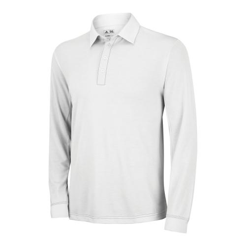 adidas Golf ClimaLite Long Sleeve Polo Shirt - White