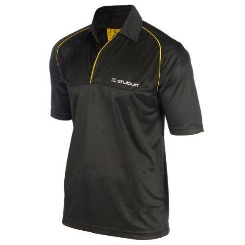 Stuburt Sport Junior Contra Stripe T-Shirt - Black/Ceylon