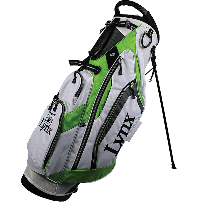 Lynx Golf Flare Stand Bag - White/Green