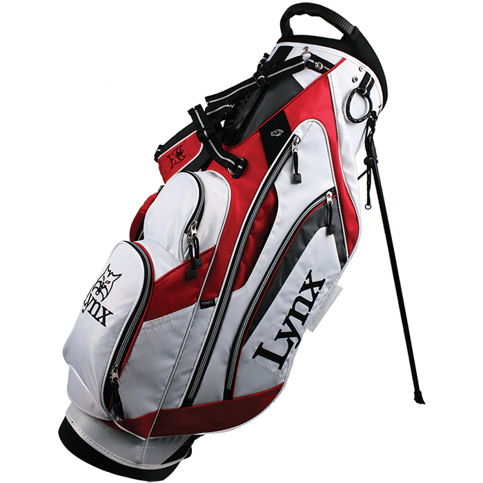 Lynx Golf Flare Stand Bag - White/Red
