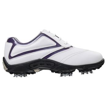 Footjoy Junior Golf Shoes - White/Purple