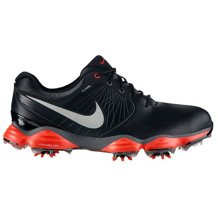 Nike Lunar Control II SL Golf Shoes - Black/Silver/Crimson