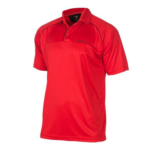 Stuburt Sport Junior Contra Stripe T-Shirt - Poppy/Black