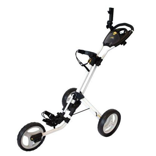PowaKaddy Twinline 4 Push Golf Trolley - White