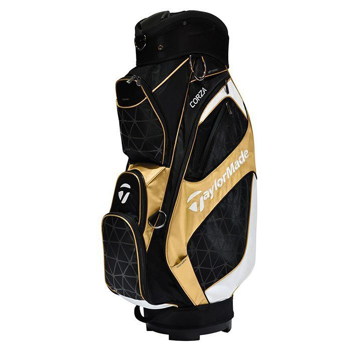 TaylorMade Corza Cart Bag - Black/Gold/White