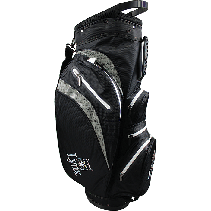 Lynx Golf Waterproof Cart Bag - Black/Grey