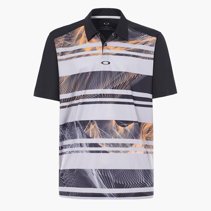c5c32bdee4 Oakley Aero Stripe Mashie Golf Polo Shirt